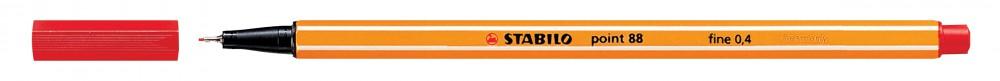Ручка капилярная STABILO Point 0.4 красная