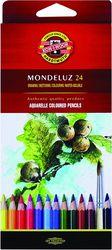 Карандаши цветные 24 цв K-I-N Mondeluz акварельные