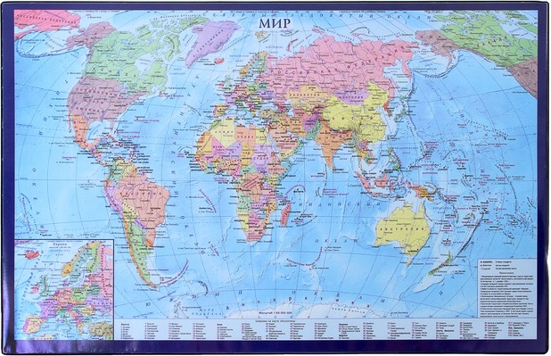Коврик настольный 38*59 Карта мира