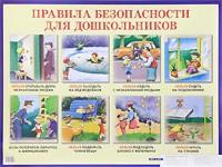 Плакат Правила безопасности для дошкольников: Наглядное пособие