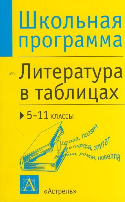Литература в таблицах. 5-11 класс: Справочные материалы