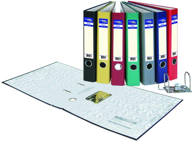 Папка-регистратор 70мм Expert зеленый бумвинил