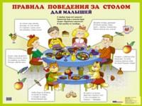 Плакат Правила поведения за столом для малышей