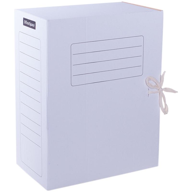 Папка архивная 150мм картонная белая, цветная