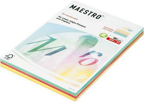 Бумага А4 250л Maestro Color Intensive Mix 80 гр/м 5 цв neon