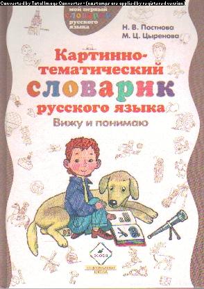 Картинно-тематический словарик русского языка: Вижу и понимаю: пособие