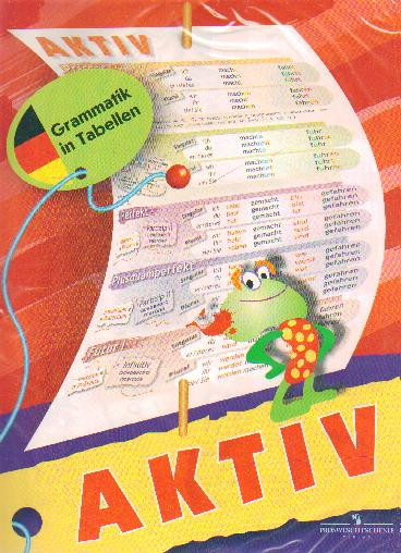Плакат Немецкий язык. Глагол: Активный залог: Таблица настенная складная