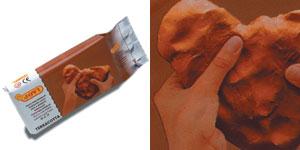Глина д/моделирования 250гр Terracotta отверд.