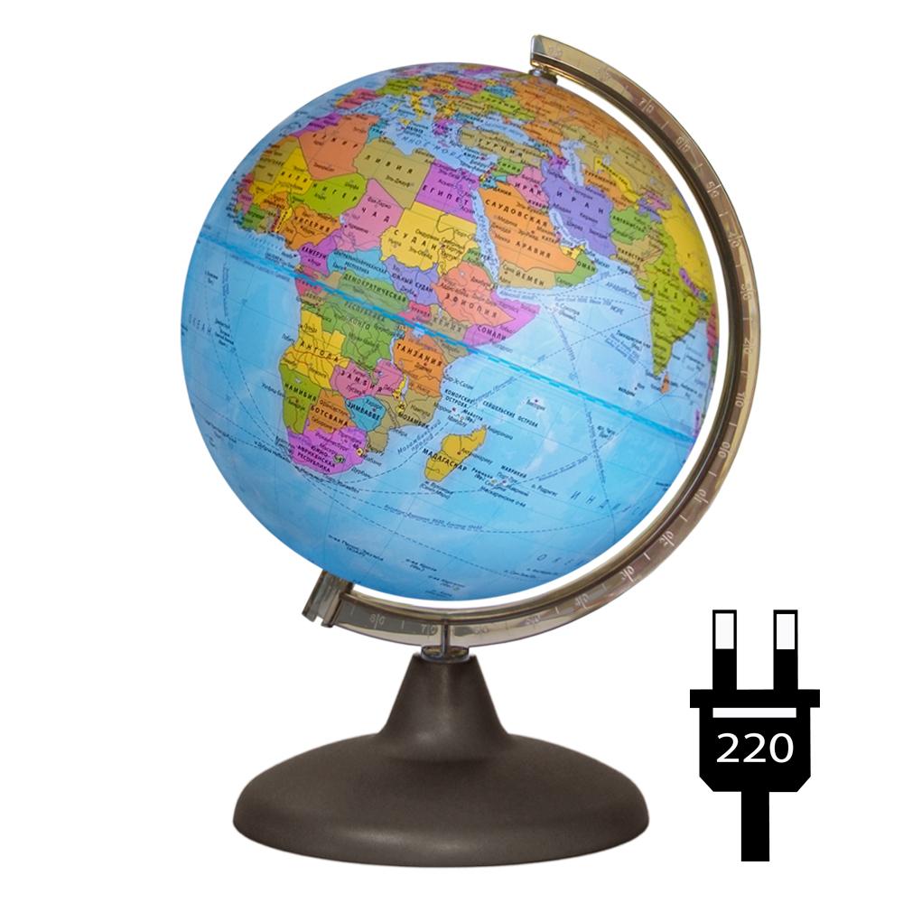 Глобус d-21 политический (с подстветкой) М 1:60 000 000