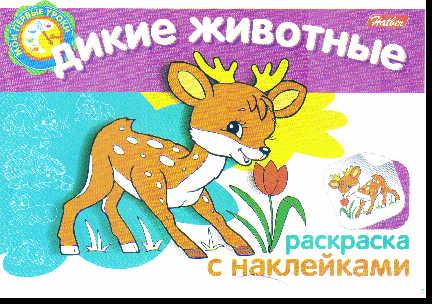 Раскраска Дикие животные: Раскраска с наклейками