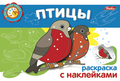 Раскраска Птицы: Раскраска с наклейками