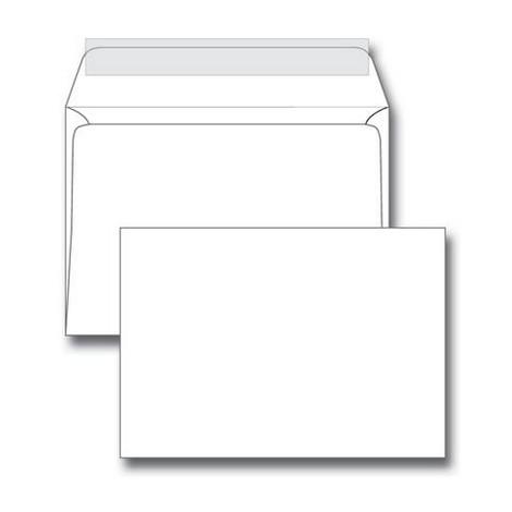 Конверт С5 162*229мм белый (без силик. ленты, клеевая полоска)
