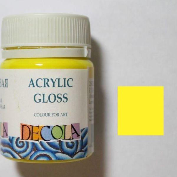 Акрил для витража Decola Желтая 40мл