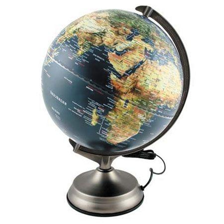 Глобус d-30 Proff физ. и пол. карта подсветка, рельеф. пов-ть, сенсор.