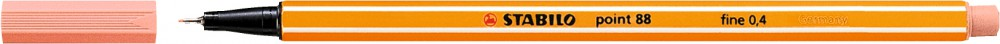 Ручка капилярная STABILO Point 0.4 телесный светлый