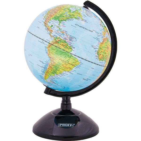 Глобус d-20 Proff физическая карта