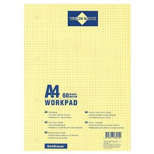Блок сменный для тетради А4 60л Yellow Block на склейке, желт. стр.