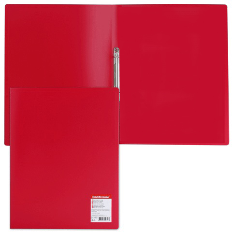 Папка с 2 кольцами 24мм EK Standart красная