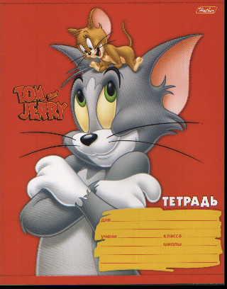 Тетрадь 12л клетка Том и Джерри нейт