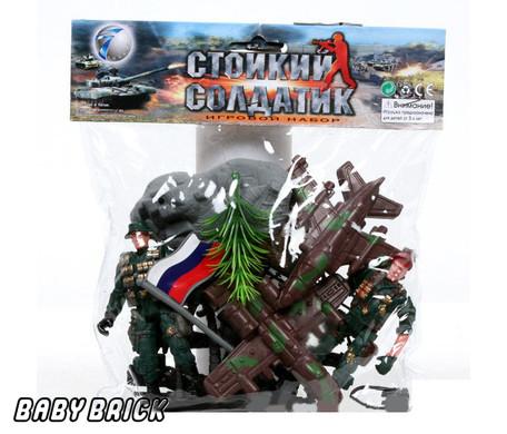 Игрушка из ПВХ Набор Стойкий солдатик с техникой и аксес.