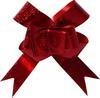 Бант-бабочка 12*250мм металлизированный Вишневый Бордо