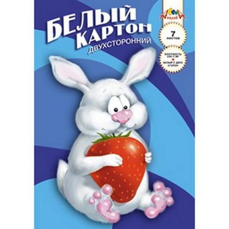 Картон белый А4 7л Кролик Роджер