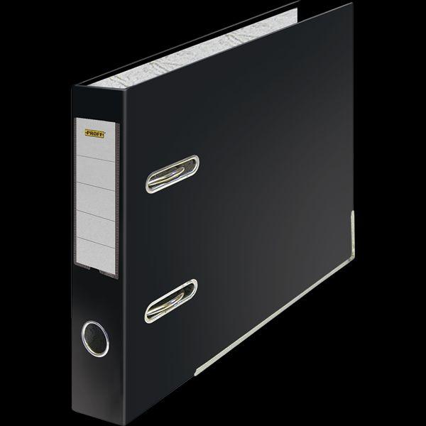Папка-регистратор А5 75мм Proff черная горизонтальная