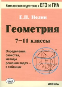 Геометрия. 7-11 кл.: Определения, свойства, методы решения задач в таблицах