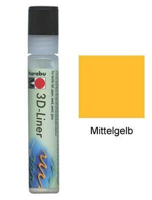 Контур объемный 3D Liner желтый средний 25мл