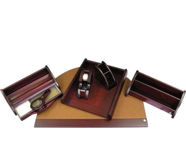 Набор настольный Protege Empereur орех 7 предм, красно коричнев.