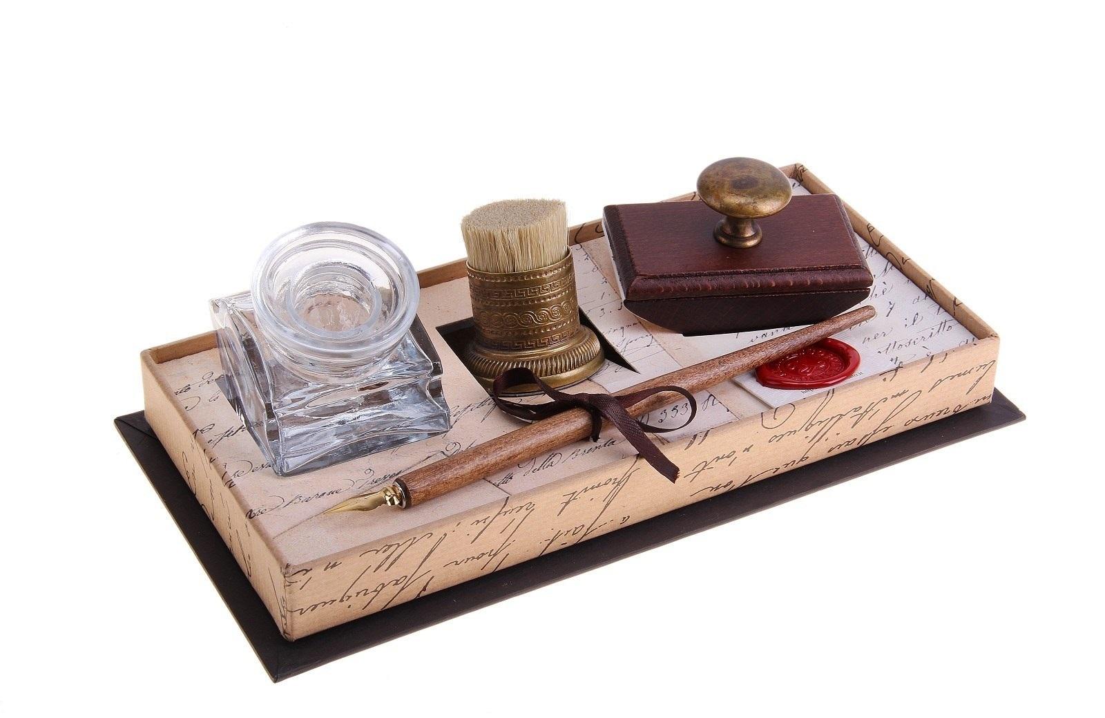 Набор письменный Rubinato чернильница+ручка