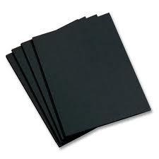 Цв. бумага 50*70см 480гр/м2 черный