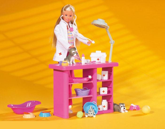 Кукла Штеффи ветеринар + аксессуары