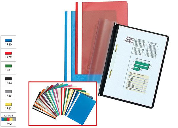 Папка-скоросшиватель верх прозрачный EK пластик