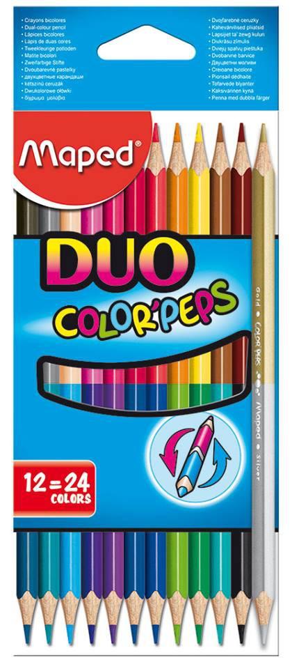 Карандаши цветные 24 цв Maped Color Peps DUO двусторон.