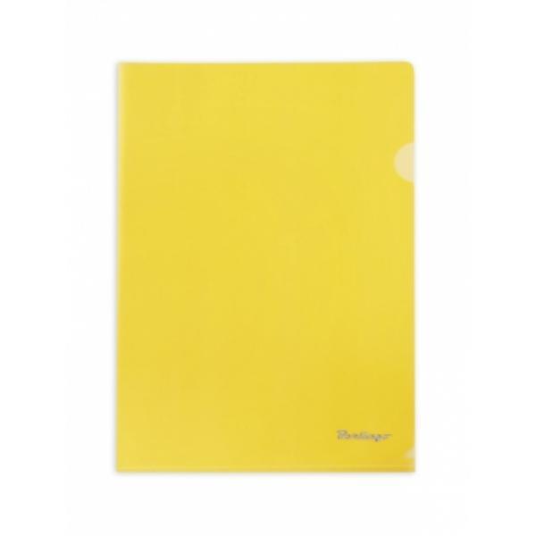 Папка-уголок 1 отд Berlingo желтая 180мкр