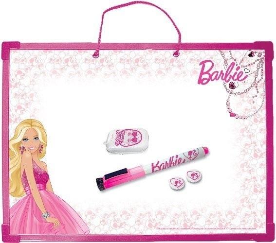 Доска д/рисования А3 Barbie + маркер, губка, магниты