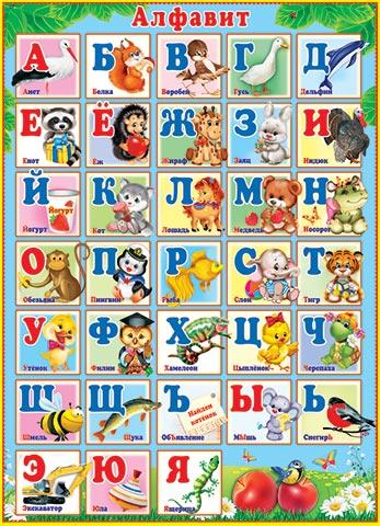 Плакат Алфавит! А2, вертик, лак