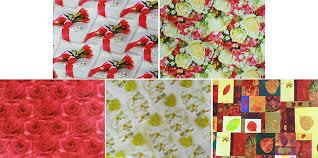 Бумага упак. в рулоне 672х990 Цветы на сиреневом