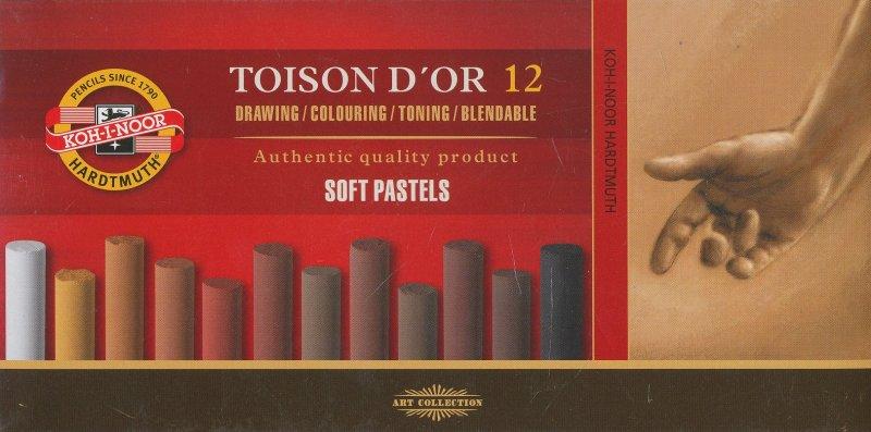 Пастель 12цв K-I-N Toison D'or мягкая 12отенков коричневого