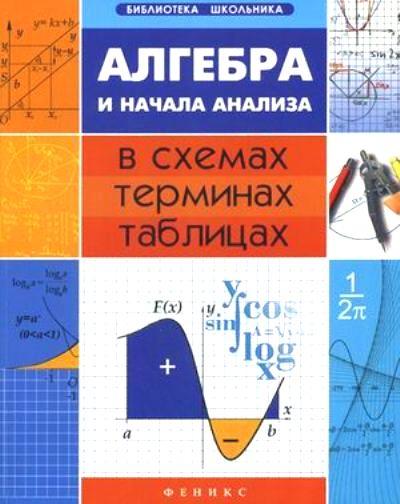 Алгебра и начала анализа в схемах, терминах, таблицах