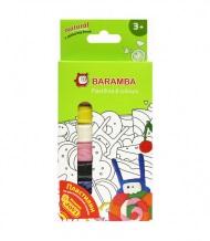 Пластилин 10 цв Baramba 150гр флуор. к/к