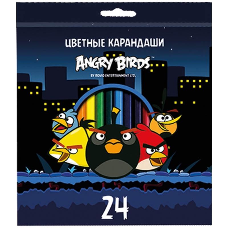 Карандаши цветные 24 цв Angry Birds 2