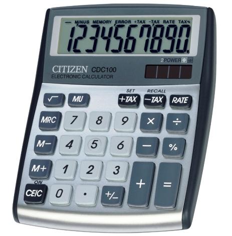 Калькулятор 10 разр. CITIZEN серый