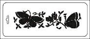 Трафарет Бабочки на цветах