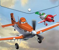 Папка для тетрадей А5 на кнопке Disney Самолеты