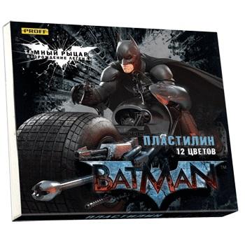 Пластилин 12 цв Proff Бэтмен 240гр