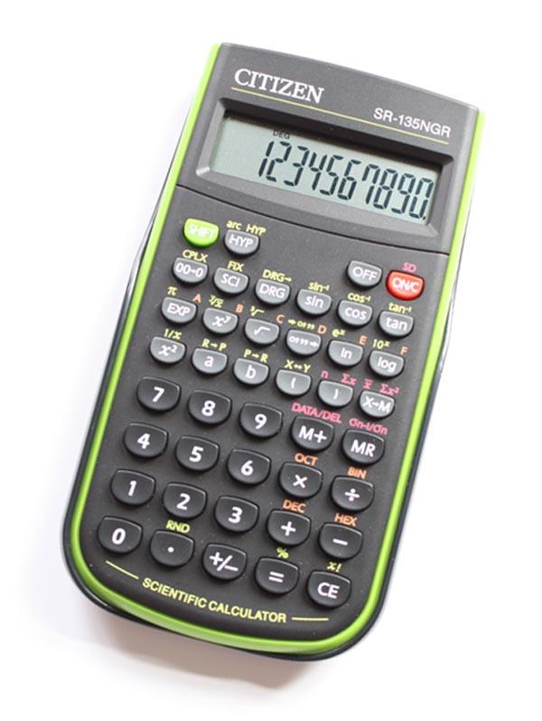 Калькулятор 10 разр. CITIZEN научный 128 функций (зеленый)