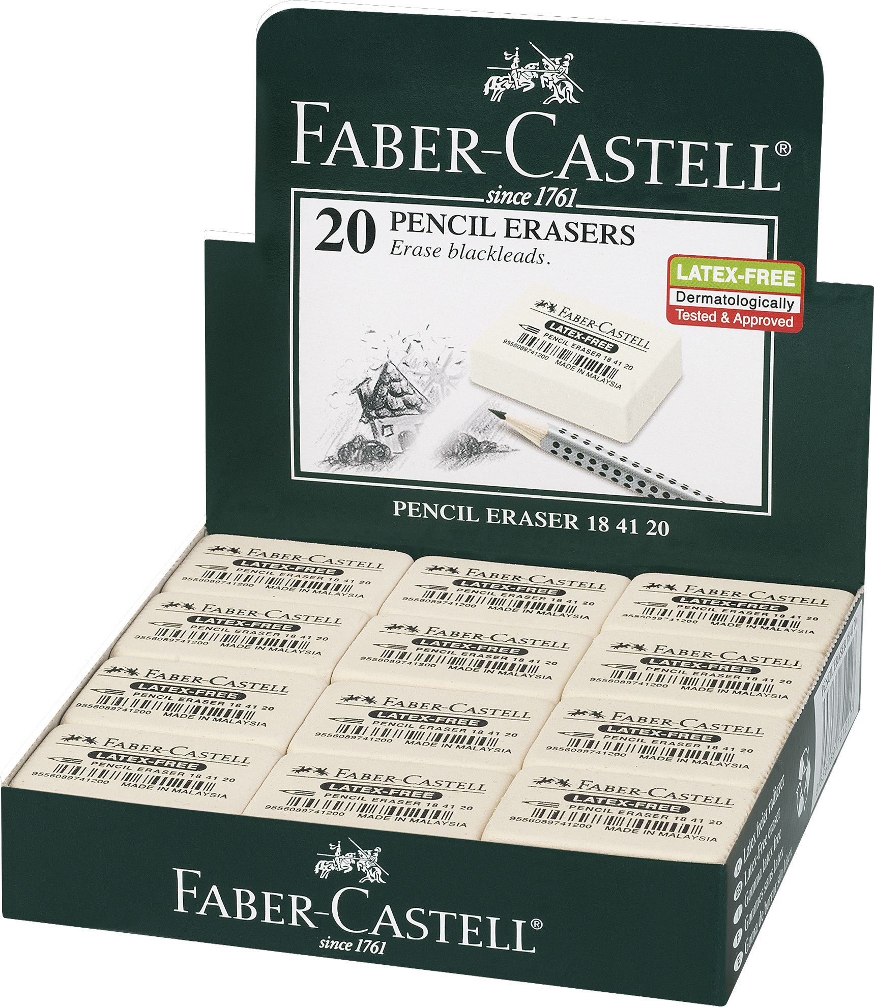 Ластик FC 7041 из каучука для ч/гр и цветных карандашей