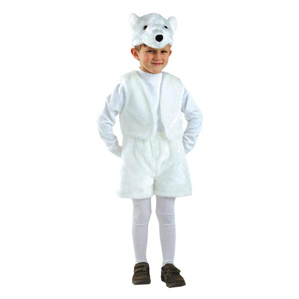 НГ Каранвальный костюм Медведь белый (р.28)